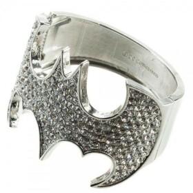 Bracelet manchette Batman logo cristaux