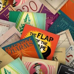 Lot de 20 cartes postales Livres pour Sorciers MinaLima