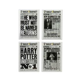 Lot de 4 magnets Unes de la Gazette du Sorcier MinaLima