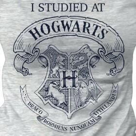 T-shirt Fille I Studied At Hogwarts gris