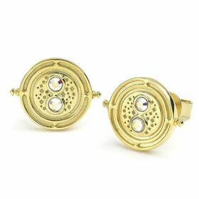 Boucles d'oreilles Retourneur de temps Argent 925ème plaqué or