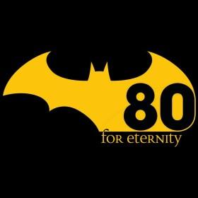 T-shirt Femme Batman For Eternity 80th Anniversary Noir