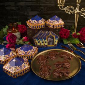 Moule à Chocogrenouille en chocolat + 6 boîtes Chocogrenouille + 6 cartes de sorciers