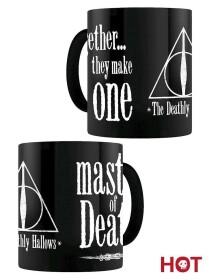 Mug Les Reliques de la Mort Noir Thermoréactif