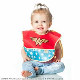 Super bavoir avec cape amovible Wonder Woman