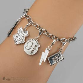 Bracelet 5 charms couleur argent