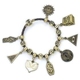 Bracelet à Charms en cuir brun Les Animaux Fantastiques