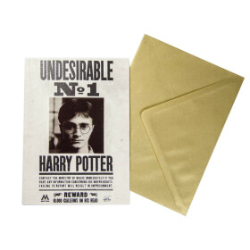 Carte de voeux lenticulaire Gazette du Sorcier Harry Potter - Indésirable No.1
