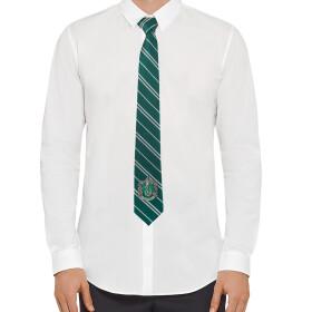 Cravate Serpentard logo tissé