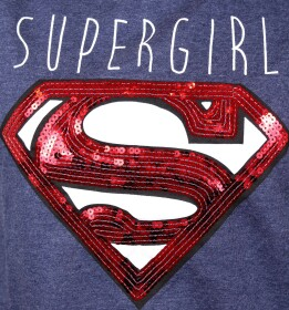 Pull-over Supergirl à sequins
