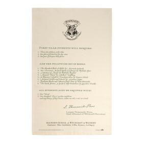 Torchon Lettre d'acceptation de Harry Potter à Poudlard