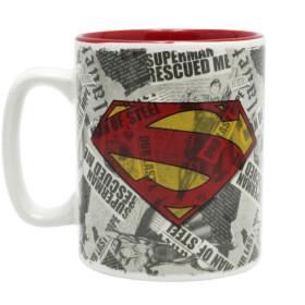 Mug Superman journaux et logo grande contenance