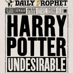 Carte de voeux La Gazette du Sorcier Harry Potter Indésirable Numéro 1 MinaLima