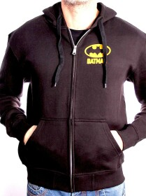 Sweat à capuche Batman noir logo dos