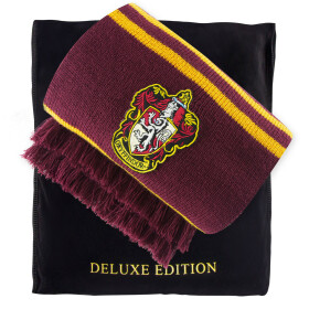Echarpe deluxe Harry Potter Gryffondor pourpre et or - 250cm