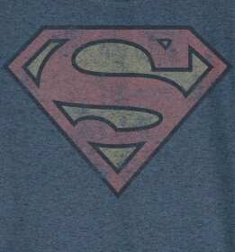 T-shirt Superman modèle enfant logo grunge