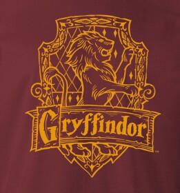 T-shirt Gryffondor Lion bordeaux
