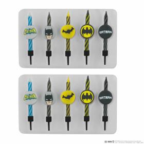 Lot de 10 bougies Anniversaire Logo Batman