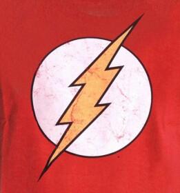 T-shirt Flash rouge logo classique