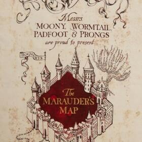 Torchon Carte du Maraudeur MinaLima