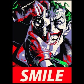Sweatshirt Joker Smile noir