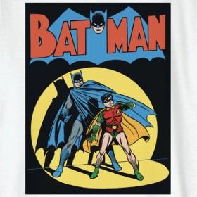T-shirt Enfant Batman Vintage Comic Cover Blanc
