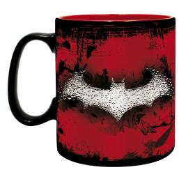 Mug Batman insane rouge et noir et chauve souris grande contenance