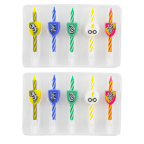 Set 10 bougies Anniversaire logo Harry potter