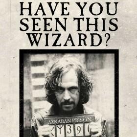 Carte de voeux lenticulaire Gazette du Sorcier Sirius Black - Avez-vous vu ce sorcier ?