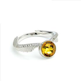 Anneau Vif d'or avec cristaux de Swarovski