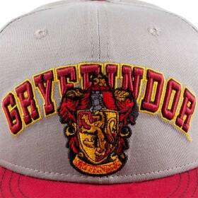 Casquette Gryffondor Grise et rouge visière plate Logo brodé