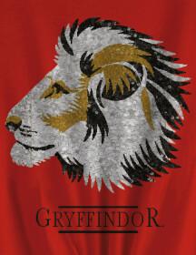 T-shirt Femme à sequins Gryffondor rouge