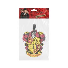 Porte étiquette pour bagage  -  Logo Maison Gryffondor