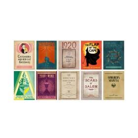 Lot de 20 cartes postales Livres pour Sorciers