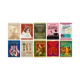 Lot de 20 cartes postales Magazines pour Sorciers Américains MinaLima
