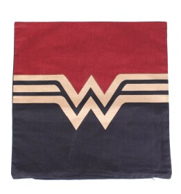 Coussin Wonder Woman logo doré