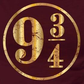 T-shirt Femme Quai 9 3/4 bordeaux