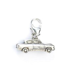 Charm à clip en argent 925ème Voiture volante Ford Anglia de M. Weasley