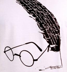 T-shirt Plume Hedwige Magic blanc