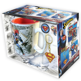 Coffret cadeau Superman mug porte clés 2 badges