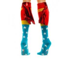 Chaussettes hautes Wonder Woman avec cape