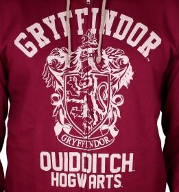 Sweatshirt zippé Gryffondor Quidditch vintage bordeaux