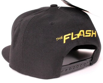 Casquette Flash noire logo 3D brodé