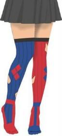 Collants Harley Quinn rouges et bleus