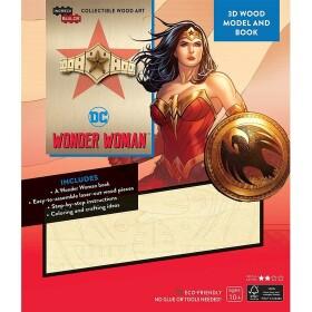 Diadème Wonder Woman en bois à fabriquer