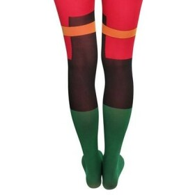 Collants Robin verts et rouges