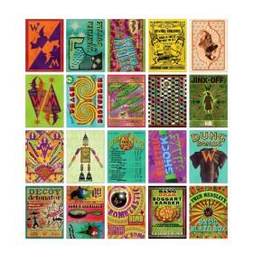 Lot de 20 cartes postales Weasley Farces pour sorciers facétieux MinaLima