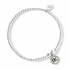 Bracelet àperles Plateforme 9 3/4 Argenté avec Cristaux de Swarovski