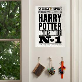 Poster La Gazette du Sorcier Harry Potter Indésirable Numéro 1 MinaLima