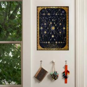 Poster Atlas des Anomalies Célestes de Gellert Grindelwald MinaLima